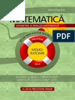 Presstern Memorator Matematica 1 Geometrie Si Analiza Matematica