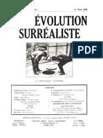 La Revolution Surrealiste 11 Mars 1928