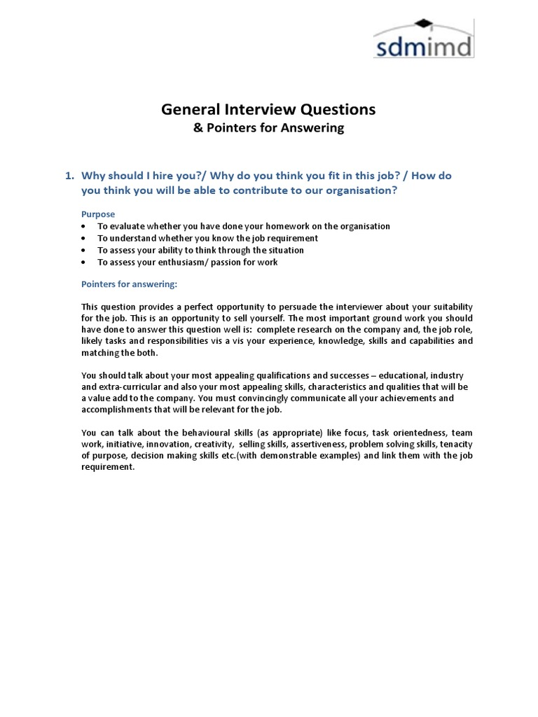 General Interview Questions   Interview   Question