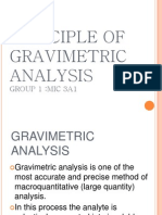 Principle of Gravimetric Analysis