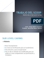 SLC.- Trabajo Del SCOOP Dentro de Un Sub Level Caving