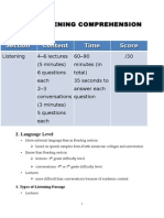 Ibt Listening Comprehension (Lectures, classroom discussion and conversation)