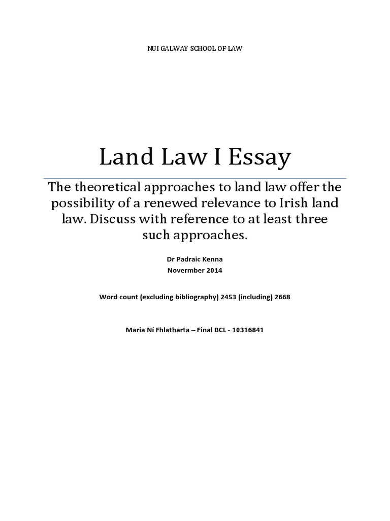 land law essay theories of land law jurisprudence property