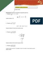 Act. 2. Limites de Funciones