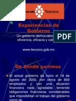 EXPERIENCIAS DE GOBIERNO