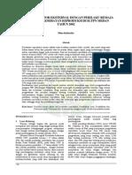 hubungan faktor eksternal dengan perilaku remaja dalam hal kesehatan reproduksi di SLTPN Medan