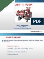 Fluid Mechanics Pumps