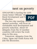 Asean Meet on Poverty, 14 Oct 2008, Straits Times