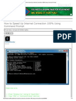 How to Speed Up Internet Connection 100% Using Command Prompt0