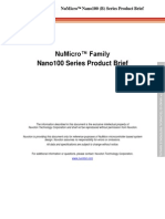NuMicro Nano100 (B) Series Product Brief en V1.00