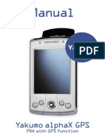 Yakumo alphaX GPS PDA user manual