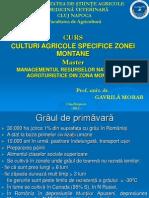 Culturi Agricole Specifice Zonei Montane