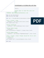 Formas de Encontrar La Ultima Fila en Excel VBA