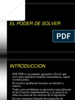 Como Usar SOLVER de Excel