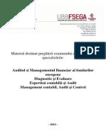 Suport Admitere Masterat 2014 AMFE, De, EXCA, MCAC