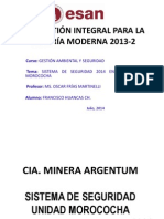 Mina Morococha.- Gestion Integral p' La Mineria Moderna (PAE-ESAN)