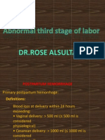 Abnormal Third Stage of Labour