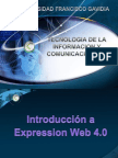 Leccion Ix Introduccion, Entorno a Expression Web