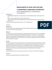 Sublingual Buprenorphine for Acute Renal Colic Pain Management