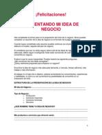 Presentando Estructura Idea Negocio