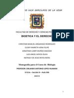 BIOETICA  Y EL DERECHO