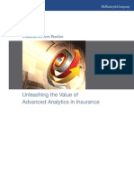 Unleashing the Value of Advanced Analytics in Insurance