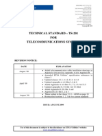 Ts201 Technical Standard for Telecommunications Systems