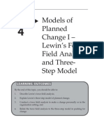 Topic 4 Models of Planned Change I Lewins Force Field Analysis and Three Step Model