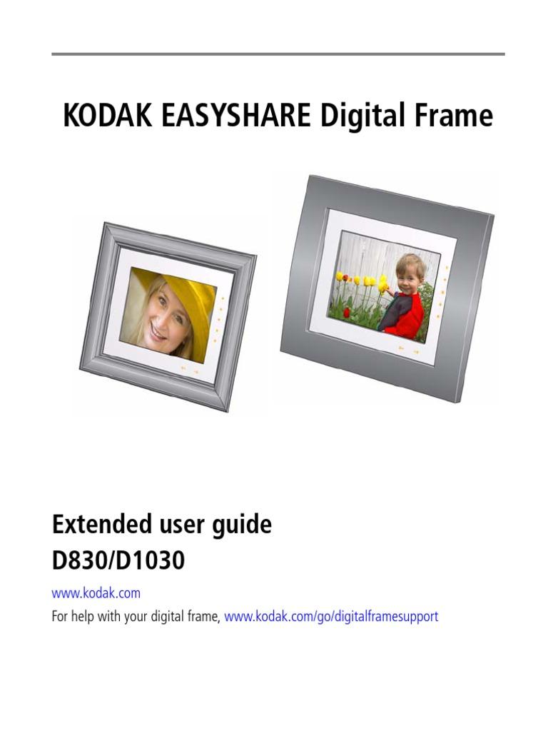 Kodak Easyshare Digiframe D830/1030   Secure Digital   Implied Warranty