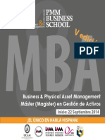 MBA Business & Physical Asset Management Quinta Edicion PMM Business School