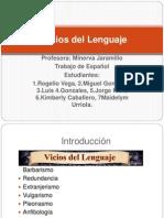 vicios del lenguaje 1