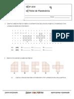 Ficha de Avaliação Matemática 5º ano - polígonos