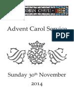 Advent Carol Service 2014