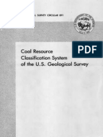 Coal Resources Classification USGS system