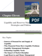 Chapter 11.liquidity and reserve management strategies and policies