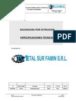 Et-002 Soldadura Por Extrusion
