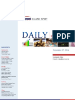 Daily Report November 27,2014