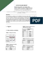 4º Informe de Física -Leyes de Kirchhoff