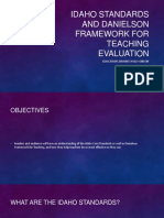 idaho standards and danielson framework for teaching evaluation