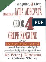 Cele 4 Grupe Sanguine - INTRODUCERE