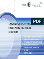 A Management Automation Framework for Mobile Networks
