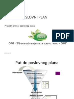 poslovni plan za upoznavanje