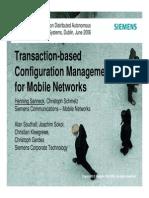 Transaction-based Configuration Management for Mobile Networks