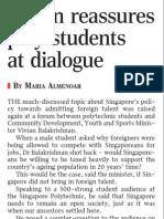 Vivian reassures poly students at dialogue, 18 Sep 2009, Straits Times