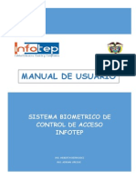 Manual de Usuario - Sistema Biometrico de Control de Acceso Infotep