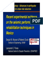 Alcocer Recent Experimental Evidence on the Seismic Performance of Rehabilitation Techniques in Mexico(1)