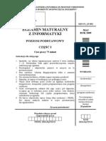 Matura 2009 - informatyka - poziom podstawowy - arkusz maturalny (www.studiowac.pl)