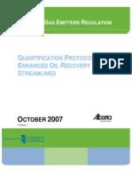 EOR Protocols in Alberta