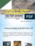 Sustancias Quimicas Fiscalizadas en El Sector Minero