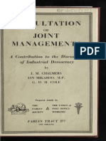 1- Libro - g d h Cole - ¿Consultation or Joint Management